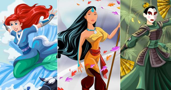 Disney Princesses As Avatar The Last Airbender Legend Of Korra Characters