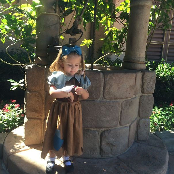 Mom Sews Incredibly Accurate Disney Costumes For Her Daughter To - Mom creates the most adorable costumes for her daughter to wear at disney world