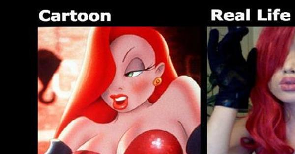 Hot Cartoon Characters Vs Real Life