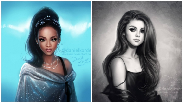 What Would Some Celebrities Look Like If They Were Drawn As Disney