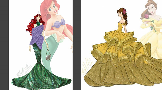 A Talented Fashion Designer Has Created a Collection of Disney ...
