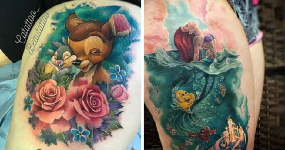 16 mind blowing disney tattoos. Black Bedroom Furniture Sets. Home Design Ideas