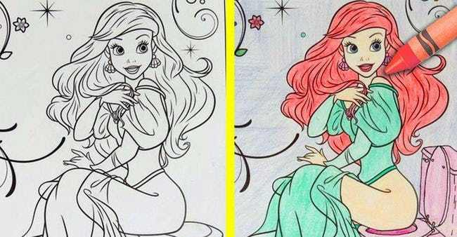 30 utterly twisted disney coloring book corruptions