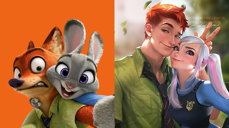 50 non human cartoon characters as humans will blow your mind