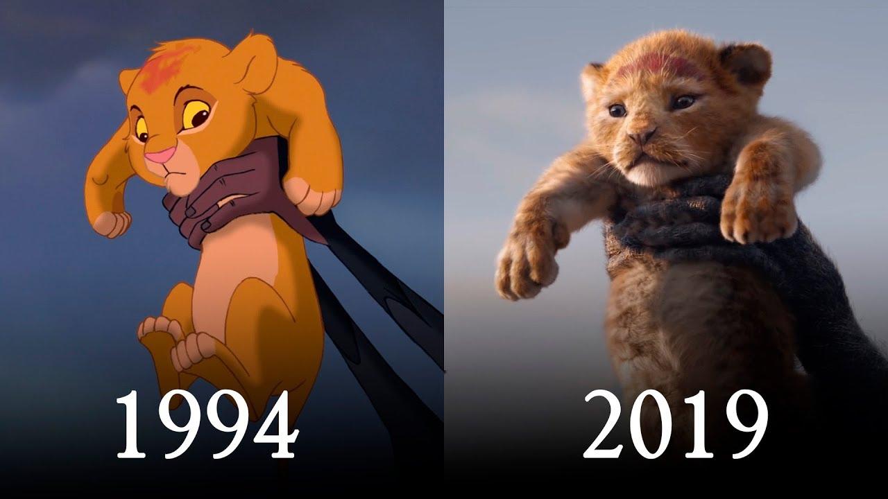the lion king 2019 vs original 1994 shot by shot comparison