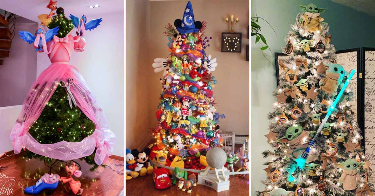23 Disney Themed Christmas Trees To Get You In The Holiday Spirit
